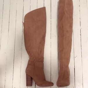 JustFab - Camel 🐫 Suede (V) Thigh High Boot